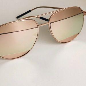 Accessories - mirrored sunglasses.